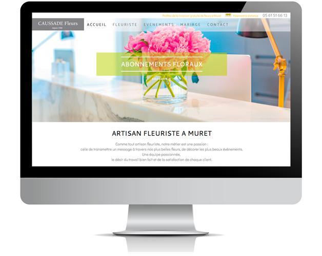 Pontonweb exemple de site internet pour fleuriste for Fleurs internet